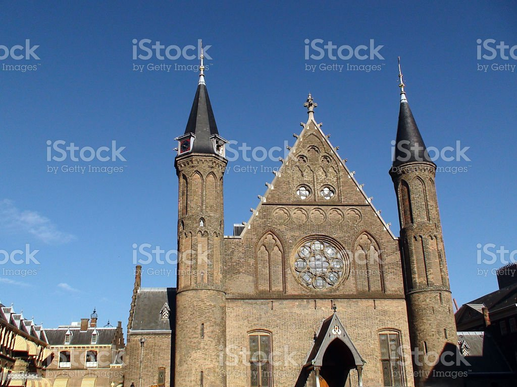 View Of Binnenhof Knights' Hall In Den Haag South Holland stock photo