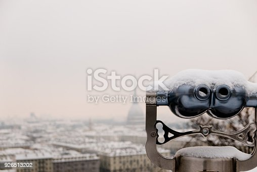 istock View of Binoculars and Turin city center behind during winter 926513202