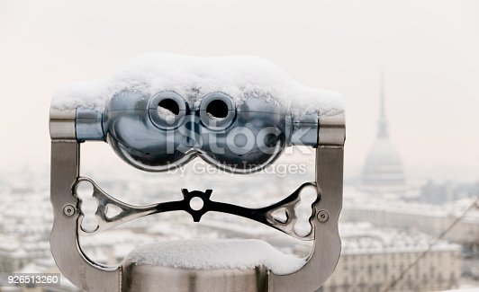istock View of Binoculars and Turin city center behind during winter 926513260
