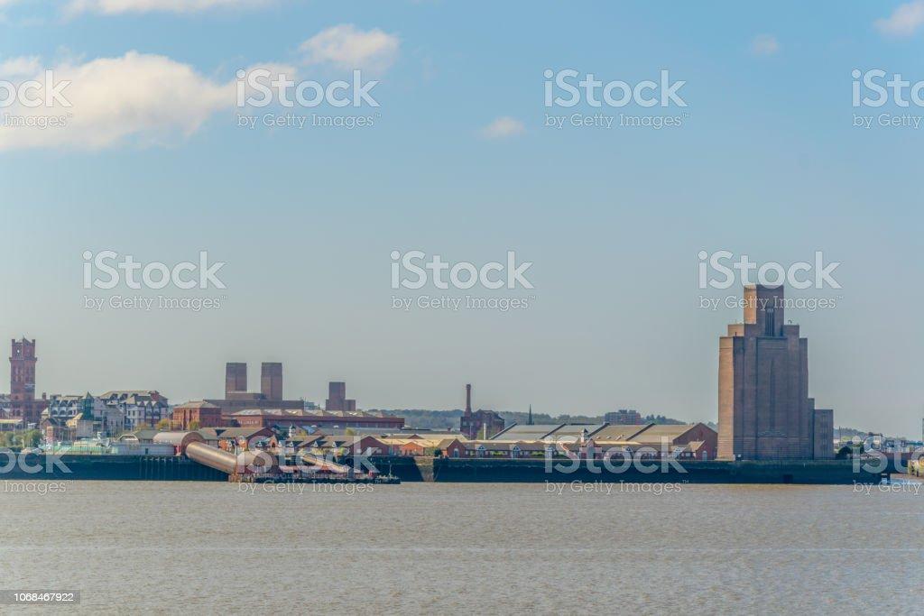View of Birkenhead, Liverpool, England stock photo