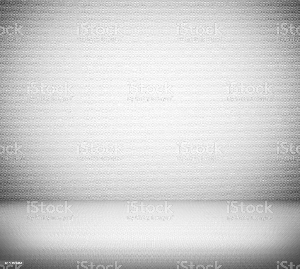 View of blank white room with shadows on the side  stock photo