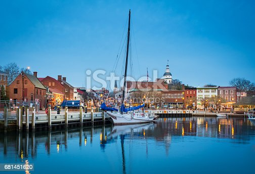 istock View of boats by the Annapolis Harbor and the city 681451620