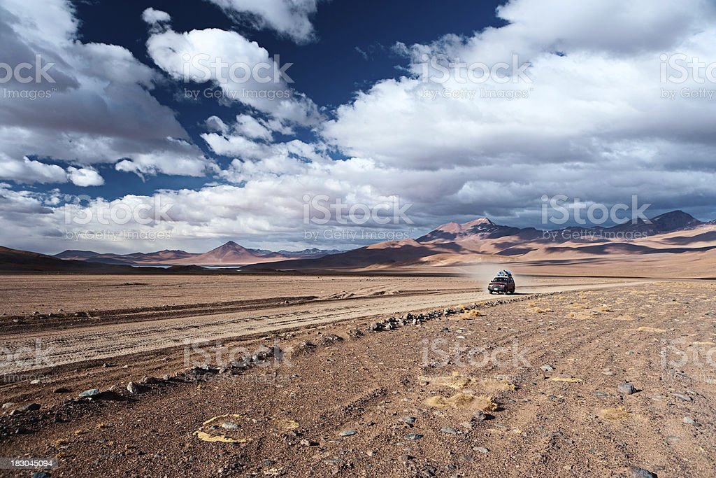 View of Bolivian altiplano royalty-free stock photo