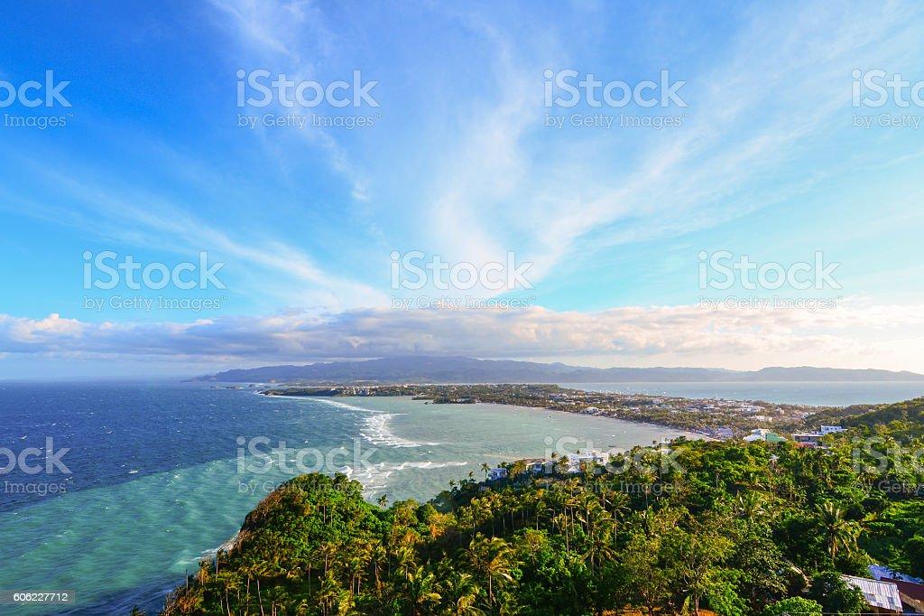 View of Boracay Island stock photo