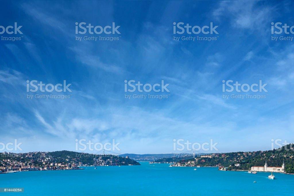 View of Bosphorus in Istanbul City stock photo