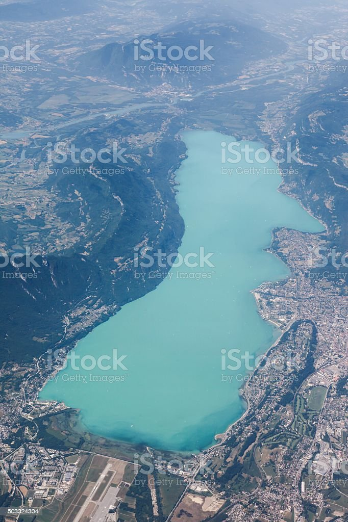 Vue du Bourget lac à Aix-les-Bains, France - Photo