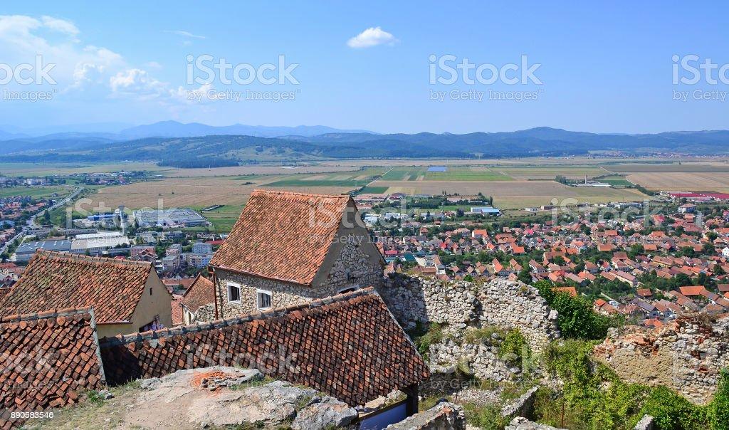 View of Brasov city in Romania stock photo