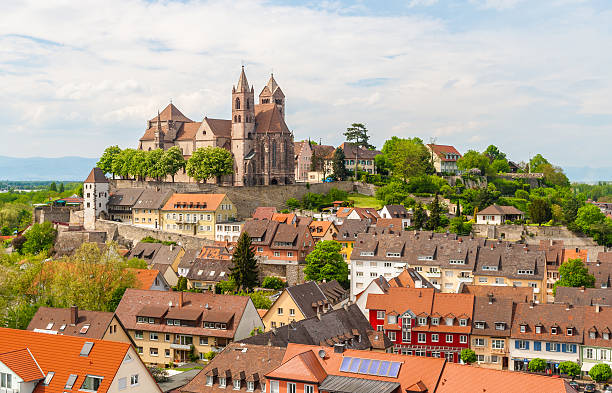 View of Breisach town -  Baden-Wurttemberg, Germany stock photo
