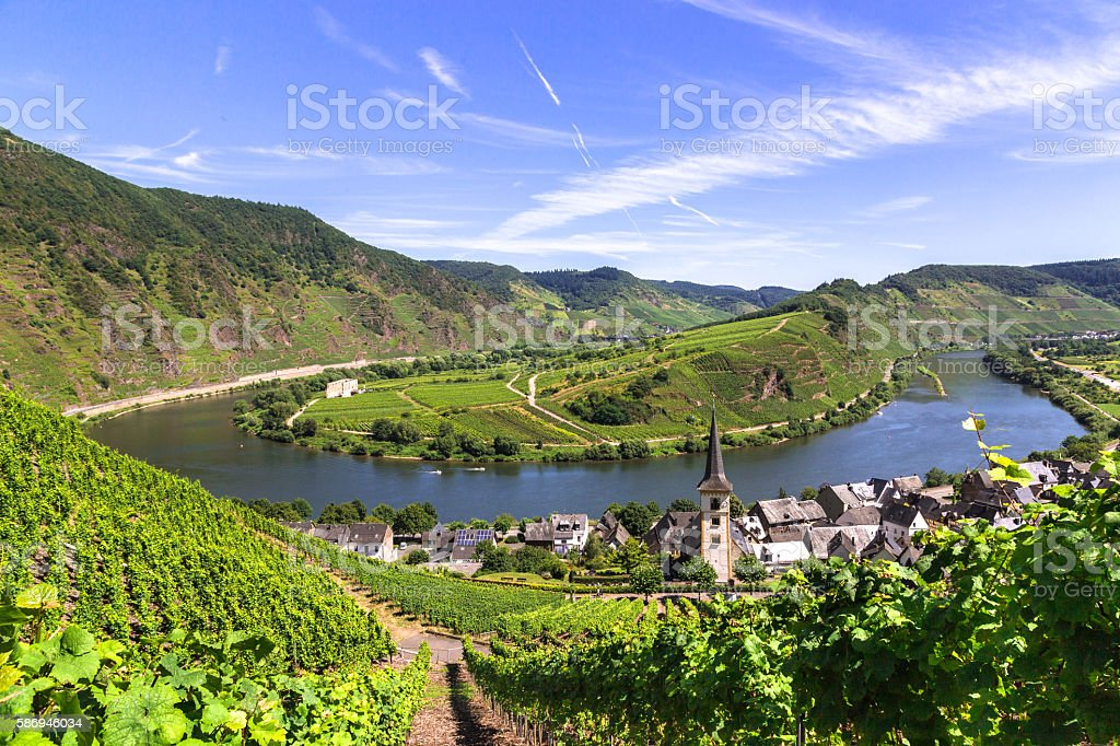 View of Bremm at the Mosel with Moselschleife – Foto