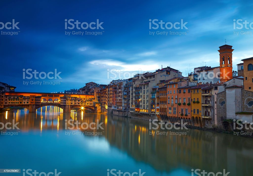 View of bridge Ponte Vecchio. Florence, Italy stock photo