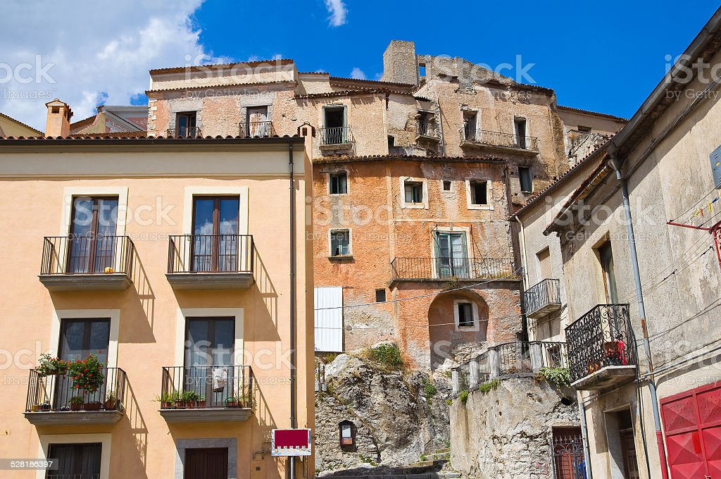 View of Brienza. Basilicata. Italy. stock photo