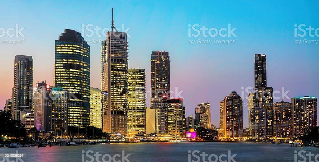View of Brisbane City from Kangaroo Point stock photo