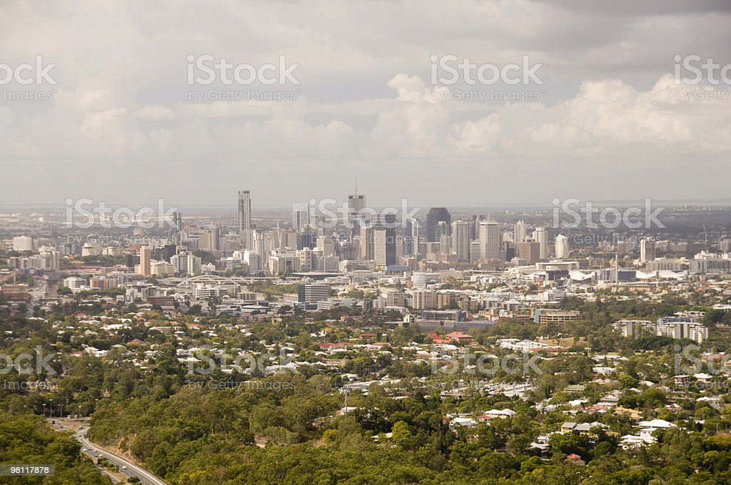 Vista di Brisbane. foto stock royalty-free