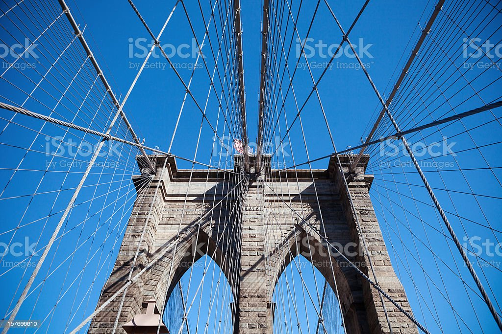 View of Brooklyn Bridge royalty-free stock photo