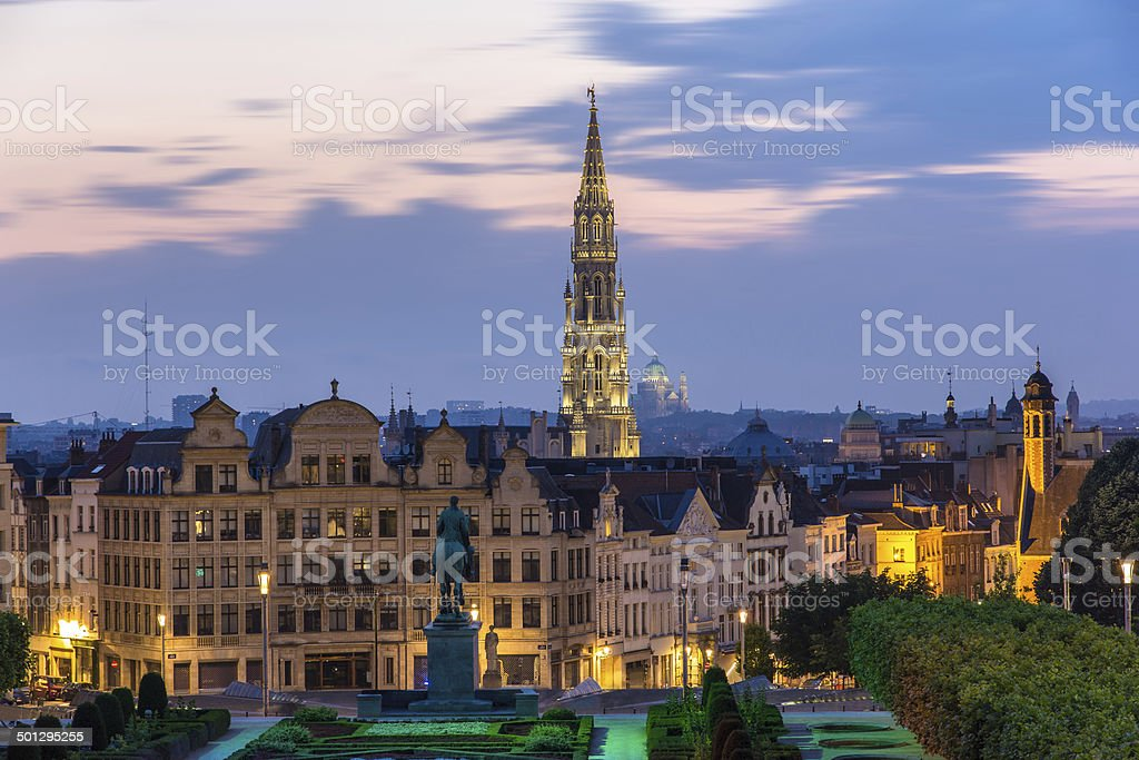 View of Brussels city center - Belgium stock photo