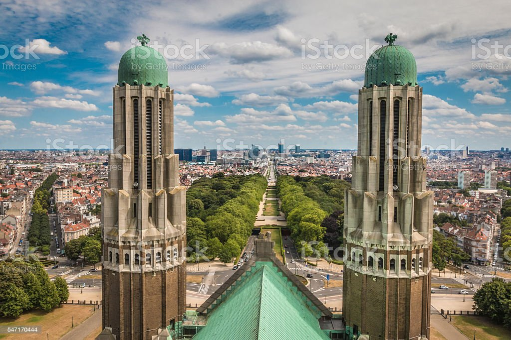 View of Brussels city in Belgium stock photo