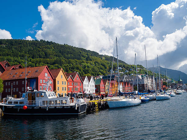 View of Bryggen in Bergen – Foto