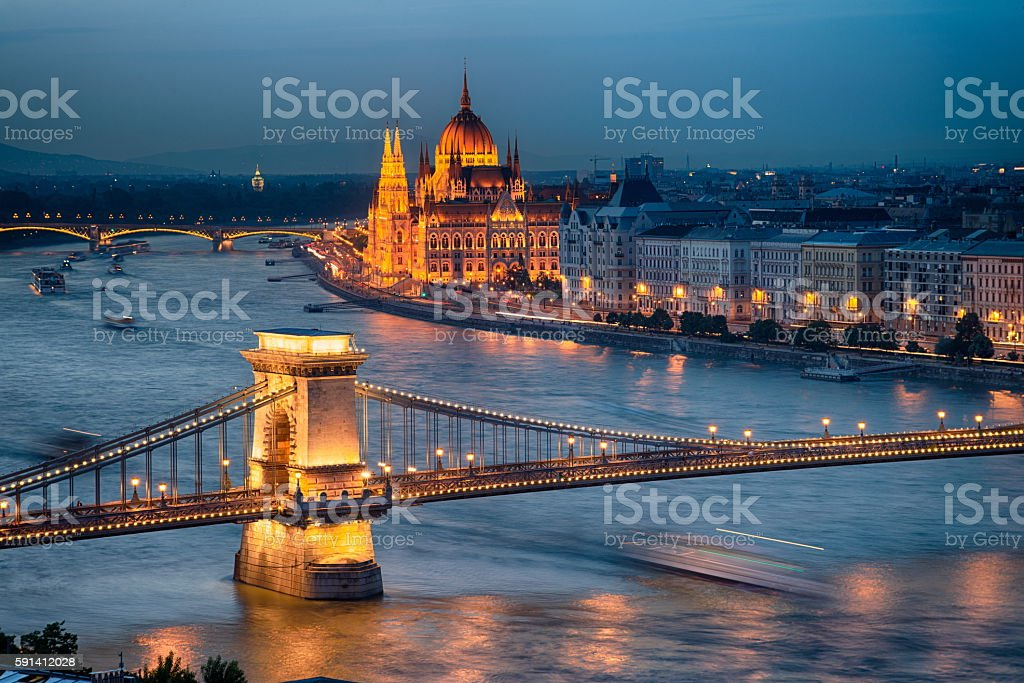View of Budapest City stock photo