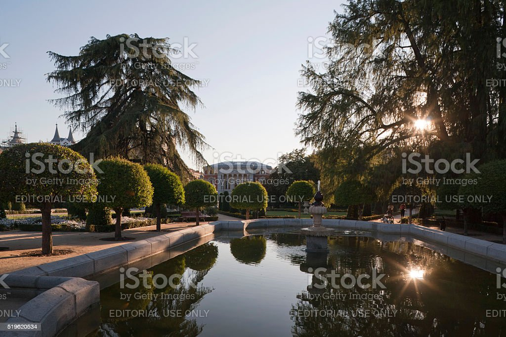 View of Buen Retiro Park, Madrid stock photo