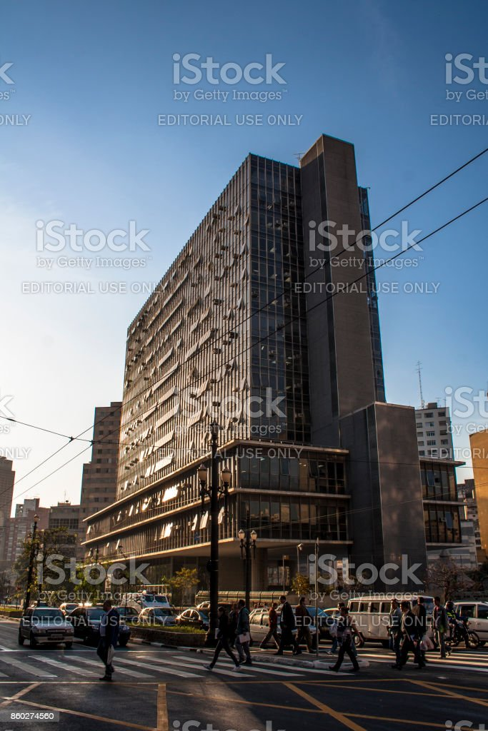 View of building municipal chamber of aldermen stock photo