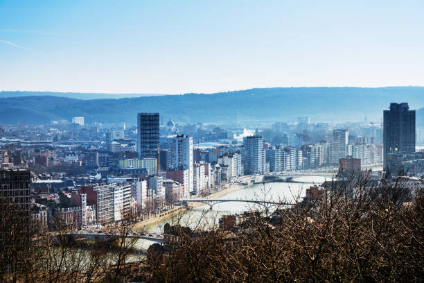 view of Buildings around Liege city, Belgium view of Buildings around Liege city, Belgium lulik stock pictures, royalty-free photos & images