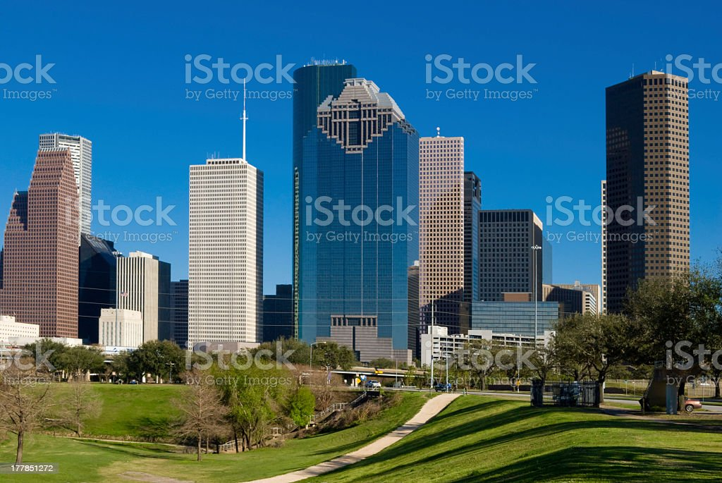 View of buildings in Houston, Texas royalty-free stock photo
