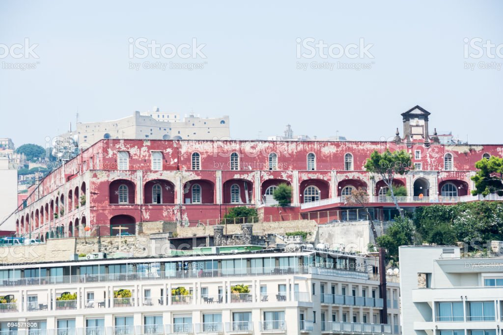 View of buildings in Naples stock photo