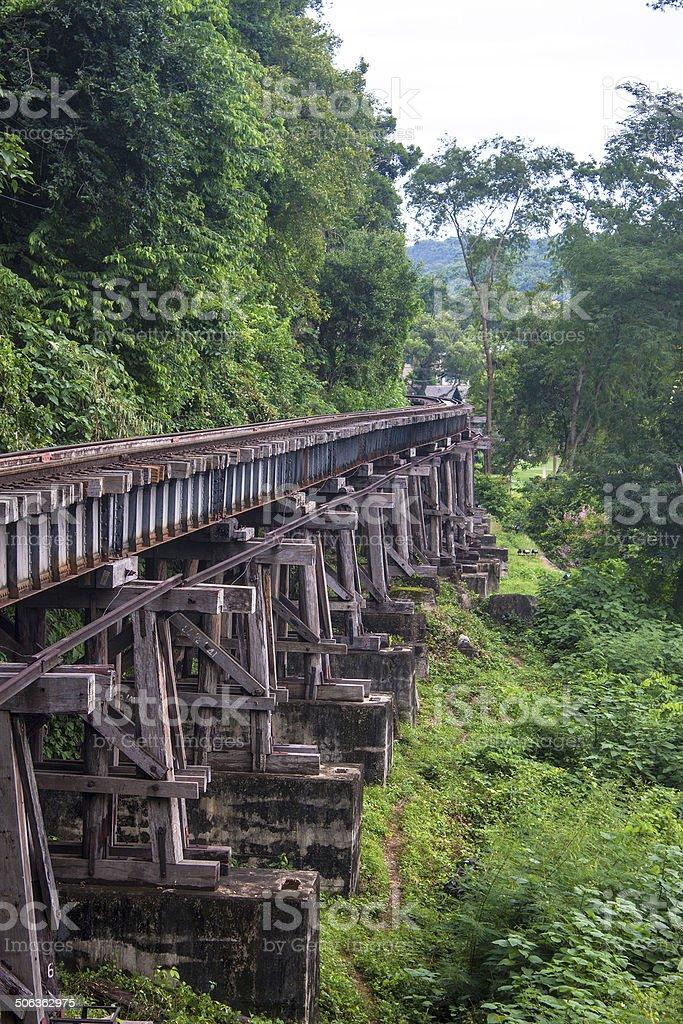 View of Burma railway stock photo