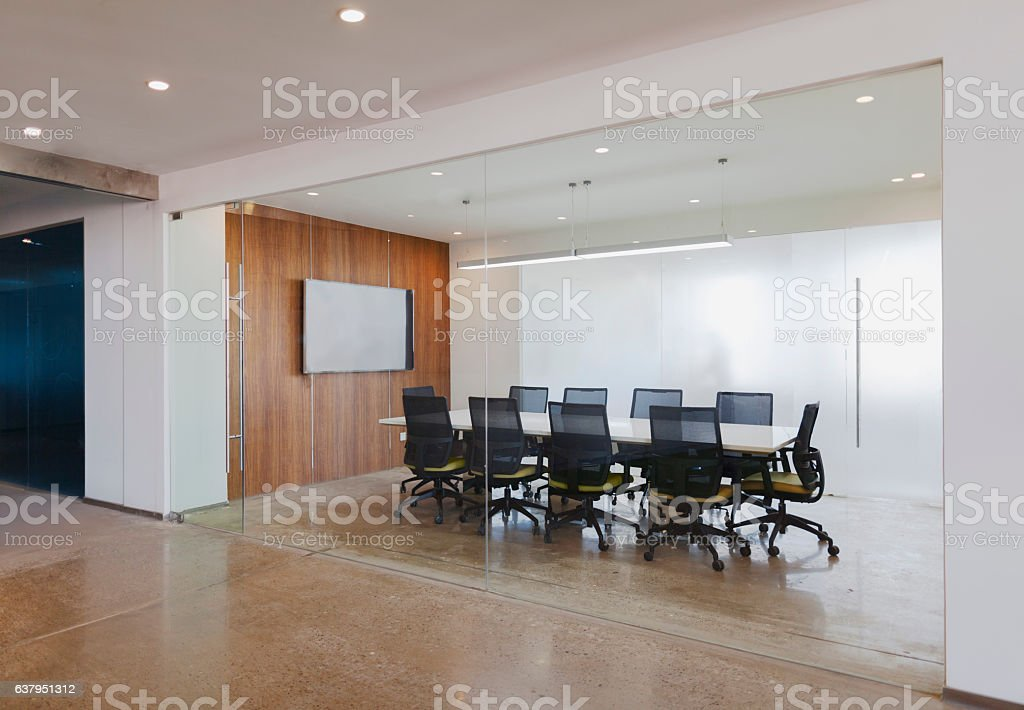 View of business conference room in modern office – Foto
