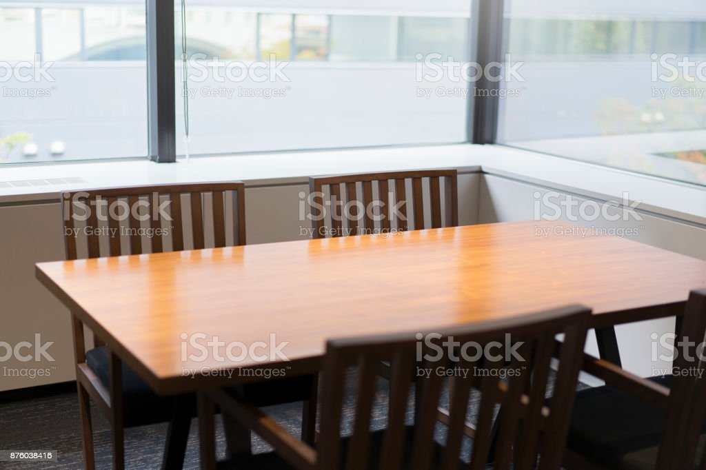View of business conference room in office stock photo