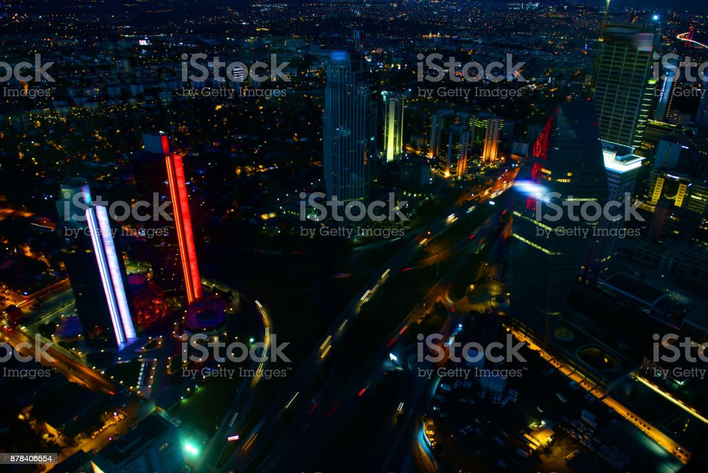 View of business Istanbul stock photo