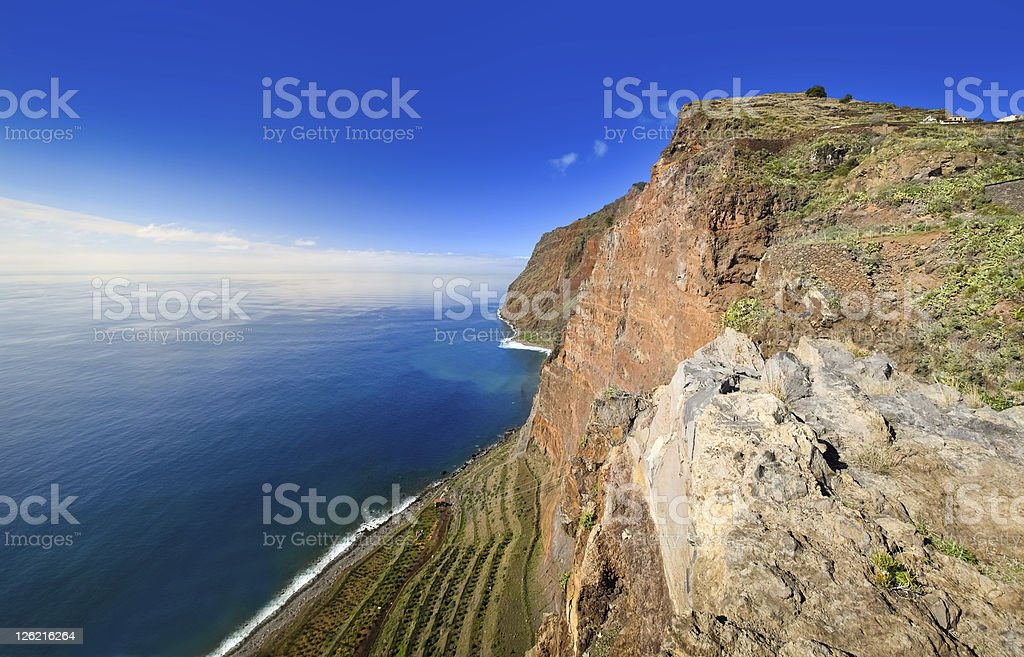 View of Cabo Girao cliff, Madeira Island - Portugal royalty-free stock photo
