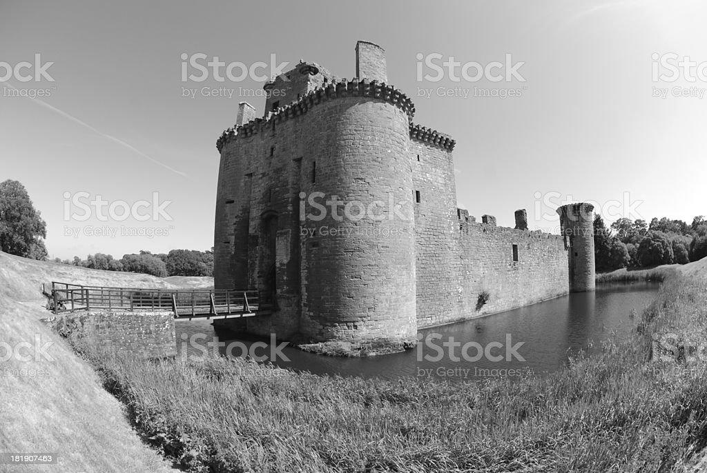View of Caerlaverock Castle stock photo