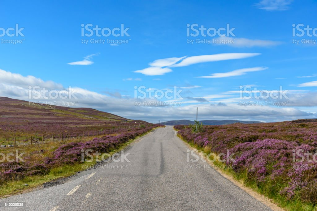 View of Cairngorms National Park stock photo