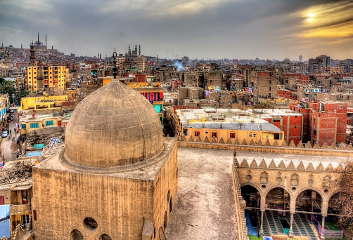 468444004 istock photo View of Cairo from roof of Amir al-Maridani mosque 466089808