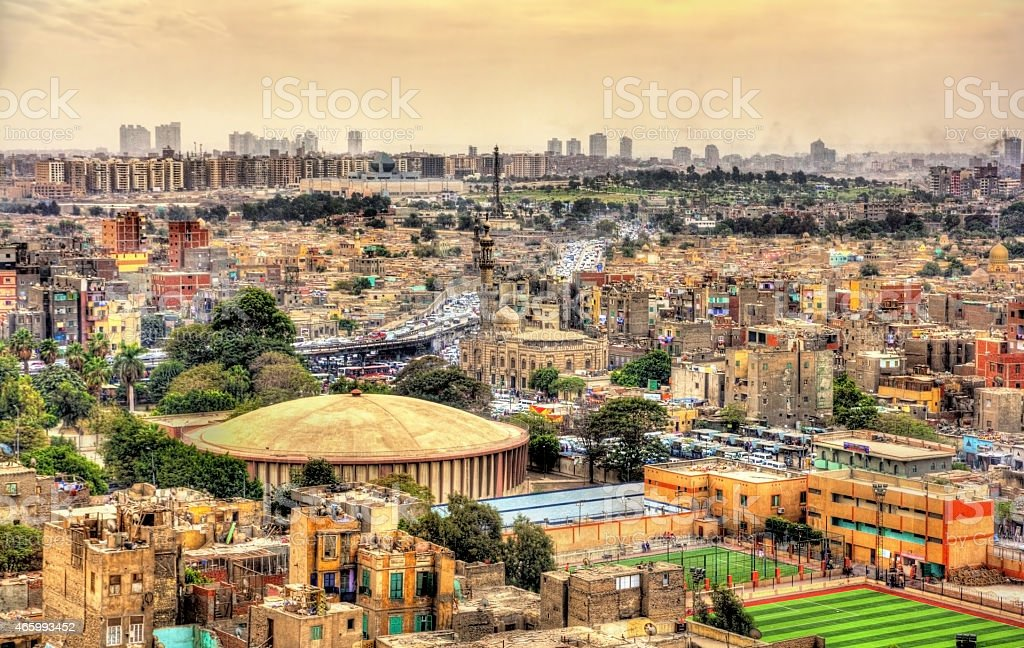 View of Cairo from the Citadel - Egypt stock photo