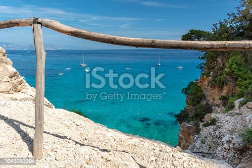 View Of Cala Goloritzé With Sea And Blue Sky, Sardinia Italy
