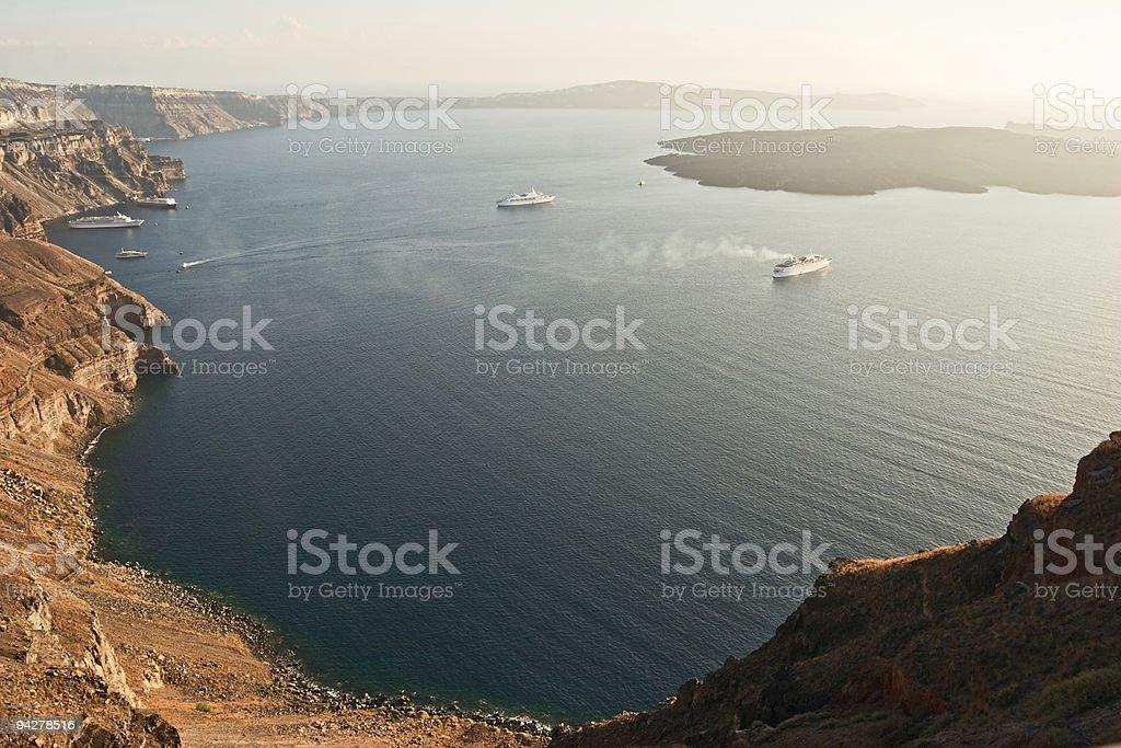 View of caldera. royalty-free stock photo