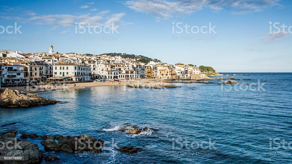 View of Calella de Palafrugell Costa Brava stock photo