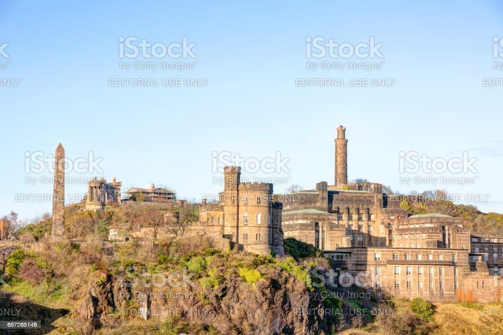 Vista de Calton Hill en Edimburgo Escocia - foto de stock