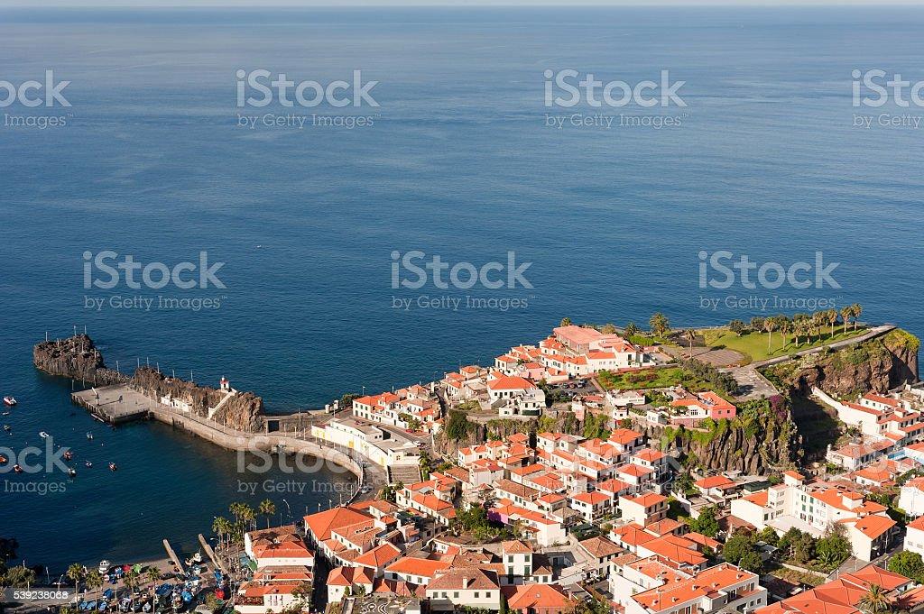 View of Camara de Lobos (fishermen village), Madeira, Portugal. royalty-free stock photo