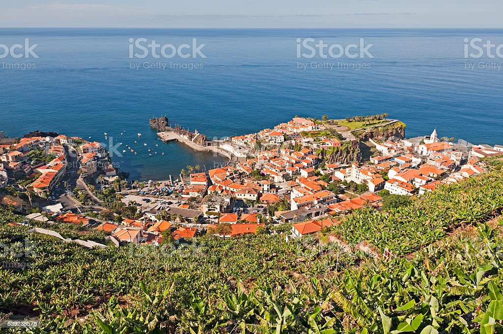 View of Camara de Lobos (fishermen village), Madeira, Portugal. royalty-free stock photo