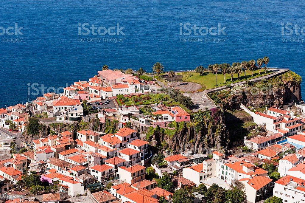 Vista delaware Camara delaware Lobos (pescadores village), Madeira, Portugal. foto de stock libre de derechos