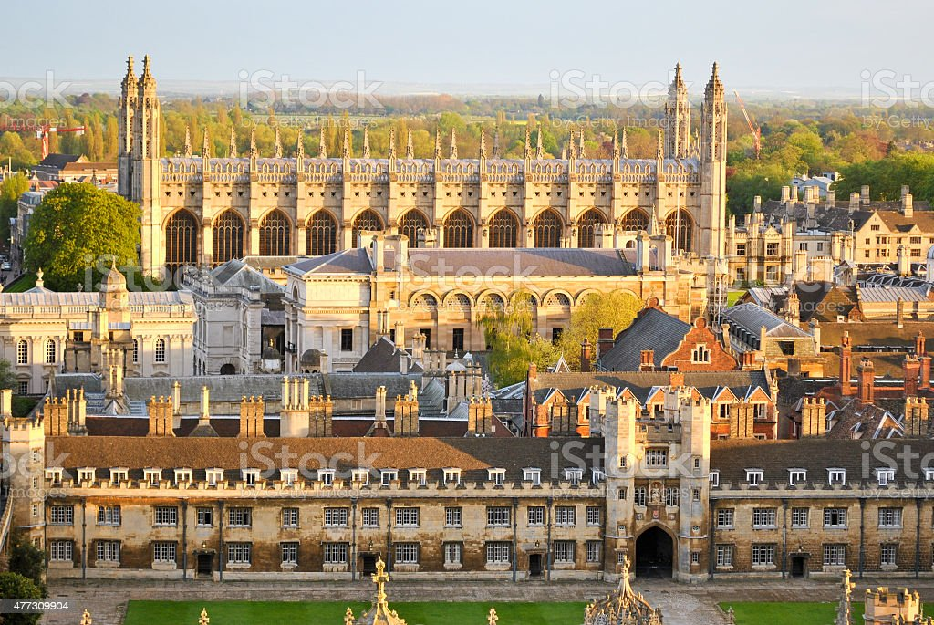 View of Cambridge's Colleges - Royalty-free 2015 Stock Photo