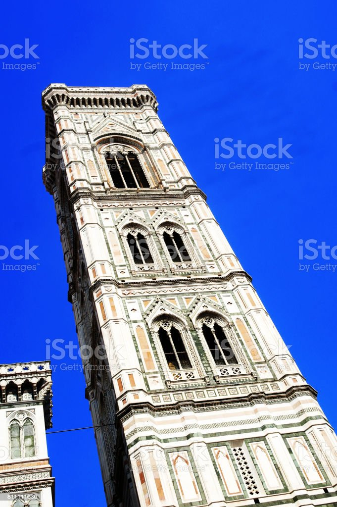 View of Campanile di Giotto in Florence Italy stock photo