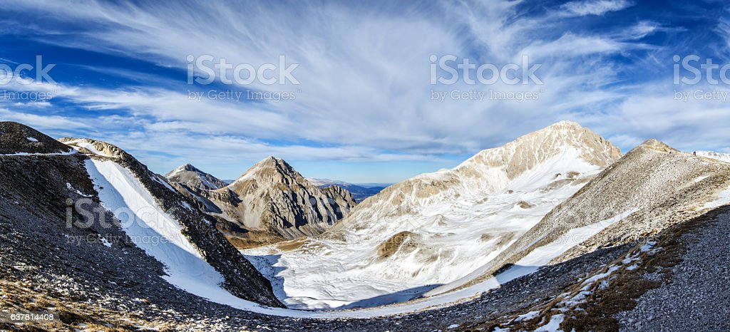 View of Campo Imperatore - Aquila stock photo