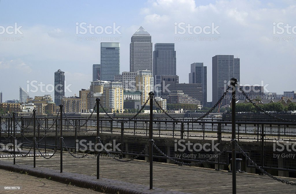 View of Canary Wharf royalty-free stock photo