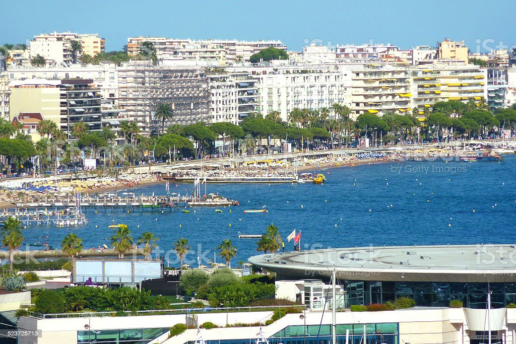 View of Cannes, South of France stock photo