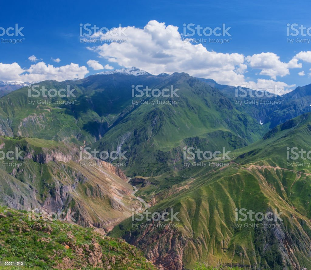 View of Canyon Colca, Peru stock photo