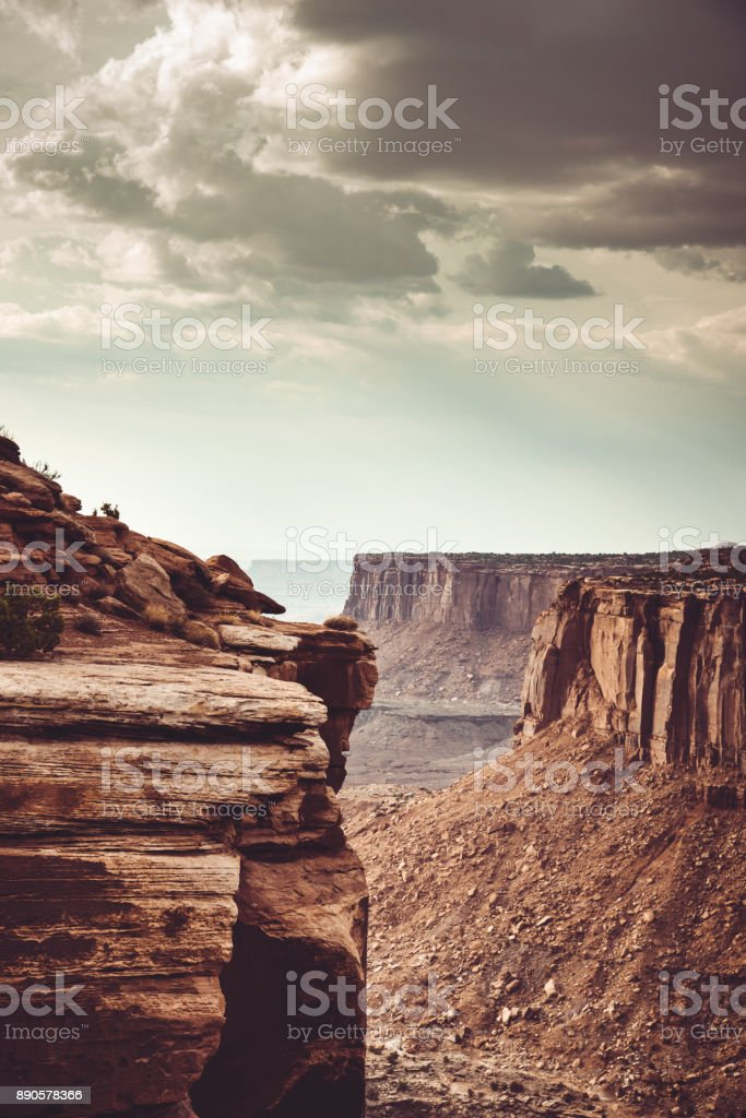 view of canyonland rock stock photo
